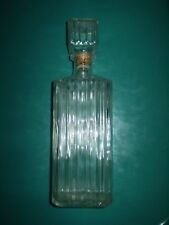 Vintage Classic Mad Men Whiskey Decanter Clear Fluted/Sculpted