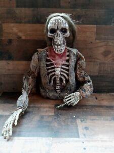 Halloween Prop Half Skull Body