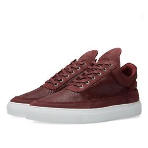 Filling Pieces Mens Low Top Leguano Sneakers US 7 | UK 6 | EU 40 Maroon