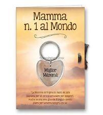PORTACHIAVI Cuore in Marmo + BIGLIETTO AUGURI con dedica Festa della Mamma madre
