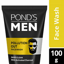 Ponds Men Pollution Out Activated Charcoal Deep Clean Face Wash 100g remove Dust