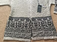 Aztec style lightweight grey/black open cardigan. Size s/m (UK 8, 10, 12). BNWT
