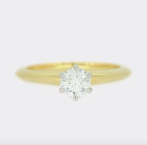 Tiffany & Co. 0.42 Carat Diamond Engagement Ring 18ct Yellow Gold RRP £4000 +