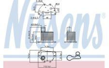 NISSENS Radiador de aceite motor 90981