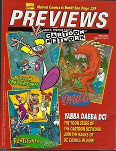 PREVIEWS Comics Catalog, Apr 1997, Cartoon Network, Savage Dragon, Warrior Nun