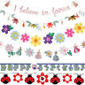 GIRL BUNTING & GARLAND / Banner Craft Baby Birthday Party Accessory Decoration