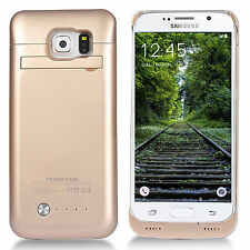 Carcasa con batería externa para Samsung S6 color dorado. Battery case GOLD