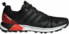Mens Terrex Agravic Running Shoe, Adidas, 9 Black/Carbon/Hi-Res Red