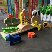WOODEN ANIMAL MOON BLOCKS BALANCING STACKING GAME EDUCATIONAL KIDS TOY SMART