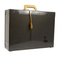 AUTH HERMES Espace GM Trunk Hand Bag Black Carbon Chamonix 500 Limited JT07269