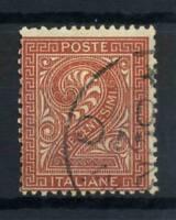 Italia 1863 Sass. 14 Usato 80% 2 c., Cifra