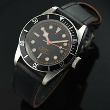 41mm Corgeut Saphirglas Zifferblatt schwarz Miyota 8215 Automatik Herren-Uhr 005