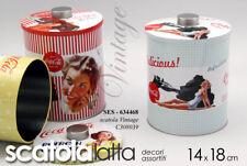 BARATTOLO H18 CM TONDO LATTA SCATOLA CONTENITORE VINTAGE NOSTALGIA SES 634468