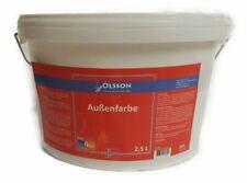 Olsson Fassadenfarbe Weiß 2,5 Liter