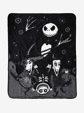 Disney The Nightmare Before Christmas Jack Lock Shock Barrel THROW Blanket NWT