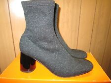 Free People Fashion Black Block Heel Ankle Boot Size.8 M   NEW