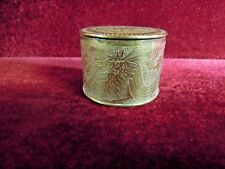 Chinese Brass Dragon Trinket Box Engraved with Lid