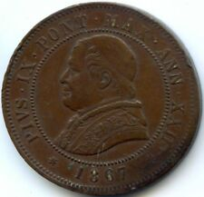 VATICAN PIE IX (1846-1878) 4 SOLDI 1867 ROME AN XXII KM 1374