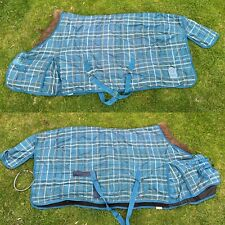 6'3 Kadence mediumweight stable rug blue check