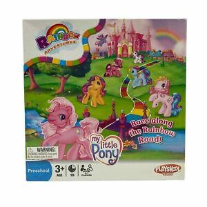 Preschool Playskool Games My Little Pony Race Along The Rainbow Board Game New