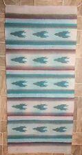 """Artesanias RYA Handwoven Saddle Blanket, Wall Hanging, Rug, 58"""" x 26.5"""""""