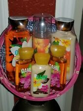 BATH AND & BODY WORKS NWT OAHU COCONUT SUNSET women's gift basket 6 items