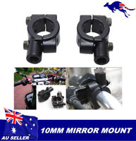 "10mm Motorcycle Motorbike Mirror Mount For 7/8"" 22mm HandleBar Pit pro Atomik"