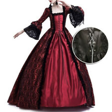 Women Gothic Victorian Long Dress Renaissance Costume Vintage Medieval Ball Gown