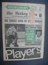 The Hockey News April 3, 1970 Vol.23 No.26 Tony Esposito Delvecchio Apr '70