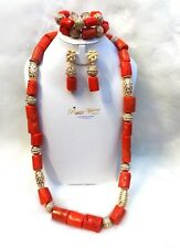 Her Emperor Majesty Traditional Coral Beads African Nigerian Beads Necklace Set