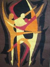 """Vintage Completed cotton Dancers needlepoint tapestry 23.7""""x17"""""""