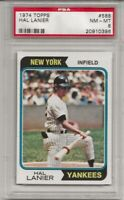 SET BREAK - 1974 TOPPS #588 HAL LANIER, PSA 8 NM-MT, NEW YORK YANKEES, L@@K !
