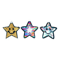 reversible change color sequins five-pointed star sew on patches for clothes JR