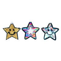 reversible cambio de color lentejuelas cinco puntas estrella coser en parc*ws