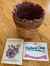 New ListingLongaberger 1992 Fathers Day Pencil Basket with Fabric Liner and Protector