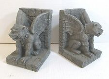 PAIR OF CAST RESIN GARGOYLE BOOKENDS Must See This!
