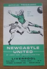 Newcastle United Home Team Written - on Football Programmes