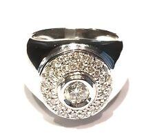 - 40 % Damiani 80024750 anello in oro bianco 18 kt diamanti ct 0,56