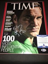 Roger Federer Signed 11x14 Photo Tennis Superstar Switzerland Beckett #4