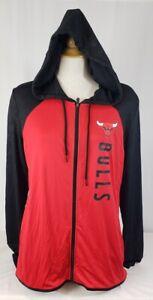 Brand New Women's NBA Fanatics Chicago Bulls Long Sleeve Hooded Sweatshirt.