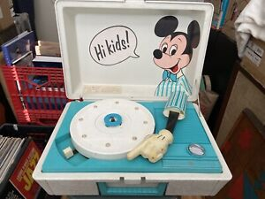 Vintage Mickey Mouse Disney Portable Record Player Turntable Not Working