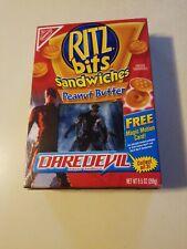 Empty Box DAREDEVIL PEANUT BUTTER Ritz Bits W/ lenticular card MOVIE TIE IN DC's