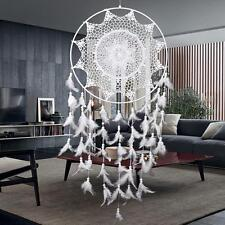 Large Size White Handmade Dream Catcher With Feathers Car Wall Hanging Ornament