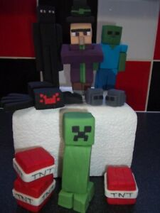 Minecraft Edible Cake Topper Decorations, Mob Set