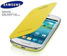 Samsung Galaxy S3 Mini i8190 Genuino Original Abatible Cubierta Caso-Amarillo