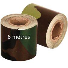 6 METRE SNIPER TAPE CAMO CONCEALMENT PVC GUN RIFLE WRAP AIRSOFT