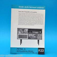 Petra-A Musiktruhe Rema 2005 1967 | Prospekt Werbung DEWAG Werbeblatt R33