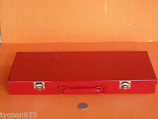 NEW METAL TOOL CASE BOX 422 x 182 x 50mm T&E TOOLS CHICAGO