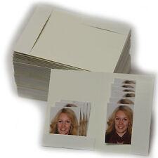 100 Stück stabile weiße Passbildmappen, Passbilder mit Bildmaß bis zu 4 x 5 cm