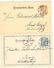 Austria, 2 Postal Cards, 1888, 1904, Lot 5412